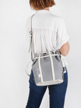 Medium Leather Elsa Bucket Bag Lancel elsa A10998-vue-porte