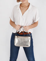 Shoulder Bag Leather Milano Gold CA19114N-vue-porte