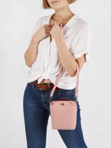 Leather City Flore Crossbody Bag Lancaster Pink city flore 47-vue-porte