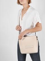 Longchamp Longchamp 3d zip Sacs porté travers Beige-vue-porte