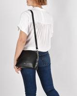 Leather Julieta Crossbody Bag Nat et nin Black vintage JULIETA-vue-porte