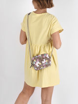 Noelle Floral Crossbody Bag Guess Brown noelle SF787914-vue-porte