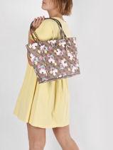 Noelle Floral Shoulder Bag Guess Brown noelle SF787923-vue-porte
