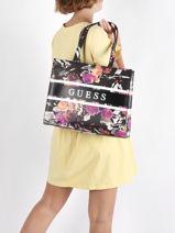 Monique Floral Tote Bag Guess Black monique SF789423-vue-porte