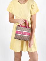 Monique Crossbody Bag Guess Pink monique SP789476-vue-porte