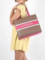 Monique Tote Bag Guess Pink monique SP789423-vue-porte