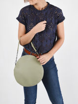 Leather Anna Shoulder Bag Nathan baume Green nathan 9-vue-porte