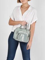 Leather Baby Macy Crossbody Bag Nat et nin Green vintage BABYMACY-vue-porte