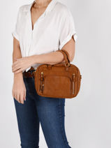 Leather Baby Macy Crossbody Bag Nat et nin Brown vintage BABYMACY-vue-porte