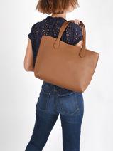 Leather Olivia Tote Bag Nathan baume Brown nathan 43-vue-porte