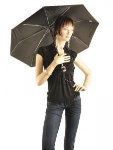 Umbrella Isotoner Black petits prix 9189-vue-porte