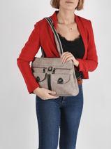 Shoulder Bag Basic Miniprix Gray basic BN7712-vue-porte