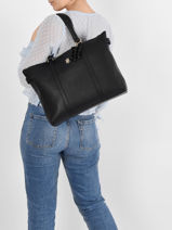 Shoulder Bag A4 Th Soft Tommy hilfiger Black th soft AW09905-vue-porte