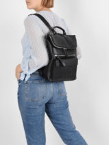 Embossed Backpack Desigual Black embossed 21SAKP08-vue-porte