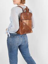 Backpack Desigual Brown parker nanaimo 21SAKP26-vue-porte