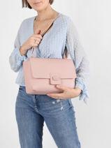 Crossbody Bag Croco Turn Leather Lacoste Pink croco turn NF3555LJ-vue-porte