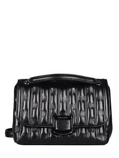 Longchamp Brioche Sacs porté travers Noir
