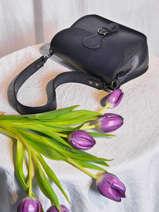 Leather Caviar Shoulder Bag Milano Blue caviar CA20122