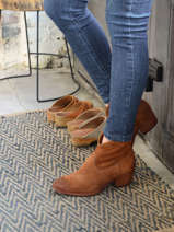 Suede leather ankle boots-MJUS