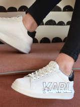 Sneakers kapri outline logo-KARL LAGERFELD