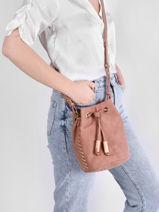 Shoulder Bag Nenuphar Woomen Pink nenuphar WNEN01-vue-porte