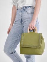 Backpack Woomen Green glaieul WGLA06-vue-porte