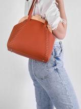 Sac Shopping Glaieul Woomen Orange glaieul WGLA03-vue-porte