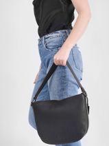 Shoulder Bag Ecuyer Leather Etrier Black ecuyer EECU07-vue-porte
