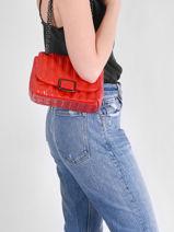 Longchamp Brioche Messenger bag Red-vue-porte