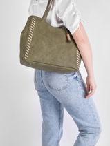 Shoulder Bag Nenuphar Woomen Green nenuphar WNEN03-vue-porte