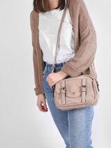 Shoulder Bag Irem Miniprix Beige irem 6414-vue-porte