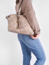 Shoulder Bag Aude Miniprix Beige aude MD8211-vue-porte