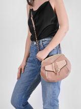 Crossbody Bag Vintage Leather Mila louise Pink vintage 3337LCV-vue-porte