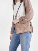 Shoulder Bag Aude Miniprix Beige aude MD8215-vue-porte