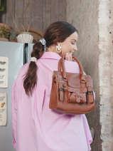Shopping Bag Vintage Leather Paul marius Brown vintage S