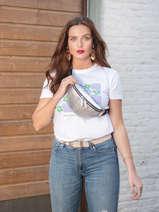 K Ikonik Belt Bag Karl lagerfeld Silver k ikonic nylon 210W3011