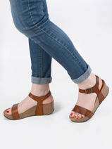 Sandals so kiss in leather-PLAKTON-vue-porte