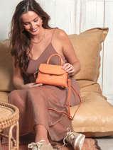 Leather Exotic Croco Crossbody Bag Lancaster Orange exotic croco 84