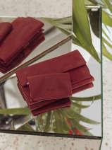 Portefeuille à Rabat Etincelle Nubuck Cuir Etrier Rouge etincelle nubuck EETN903