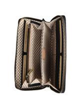 Leather New Glitter Zip Wallet Mila louise Black new glit 3158NGCV-vue-porte