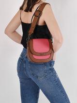 Shoulder Bag Deauville Etrier Orange deauville EDEA02-vue-porte