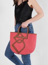 Shoulder Bag Deauville Etrier Orange deauville EDEA05-vue-porte