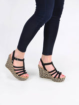 Sandales semelle compensee cressida-UGG-vue-porte