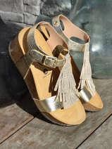 Sandals so tonka in leather-PLAKTON