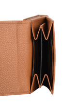 Leather Caviar Compact Wallet Crinkles Brown caviar 14068-vue-porte