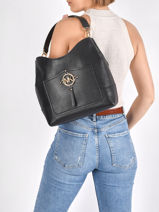 Hobo Bag Amy Leather Michael kors Black amy S1G2AH3L-vue-porte