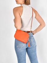 Shoulder Bag Ginny Leather Michael kors Orange jetset F7GGNM8L-vue-porte
