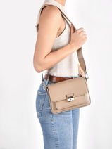 Shoulder Bag Bradshaw Leather Michael kors Beige bradshaw S1L2BM2L-vue-porte