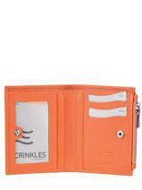 Leather Caviar Zip Wallet Crinkles Orange 14269-vue-porte