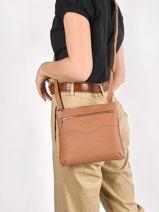 Leather Polo Crossbody Bag Nathan baume Brown n city 7-vue-porte